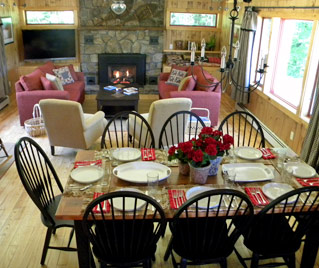 Gore Mountain Lodging Eat In Kitchen and Dining Room