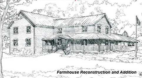 Roaring Brook Guesthouse Reconstruction Drawing